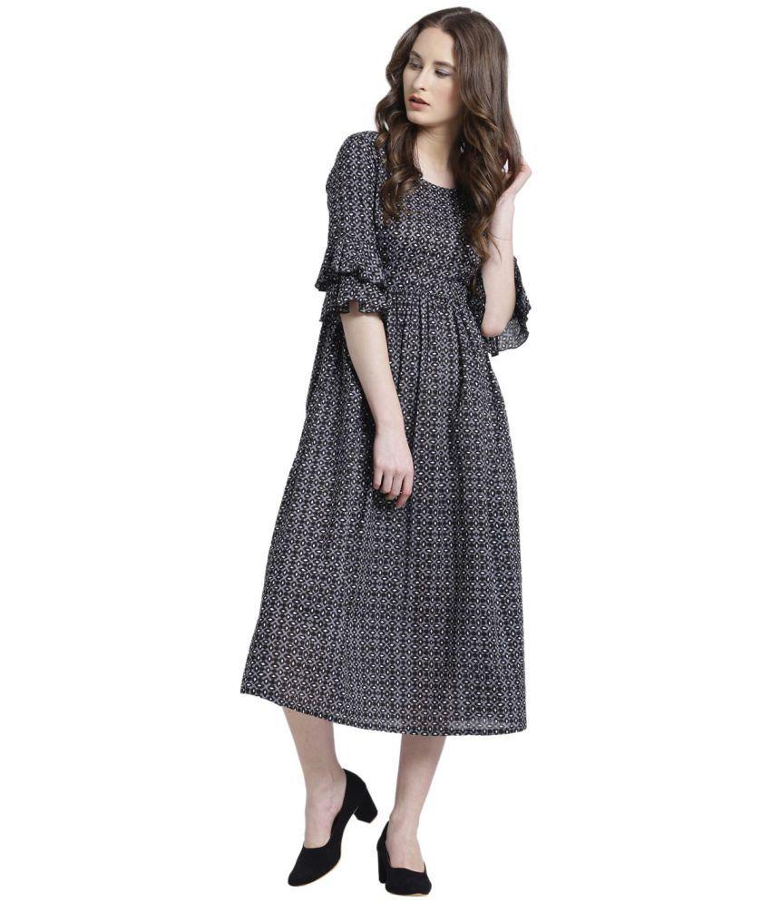 Texco Cotton Black Dresses