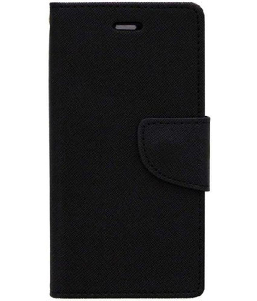 Vivo Y28 Flip Cover by Kosher Traders - Black Premium Mercury