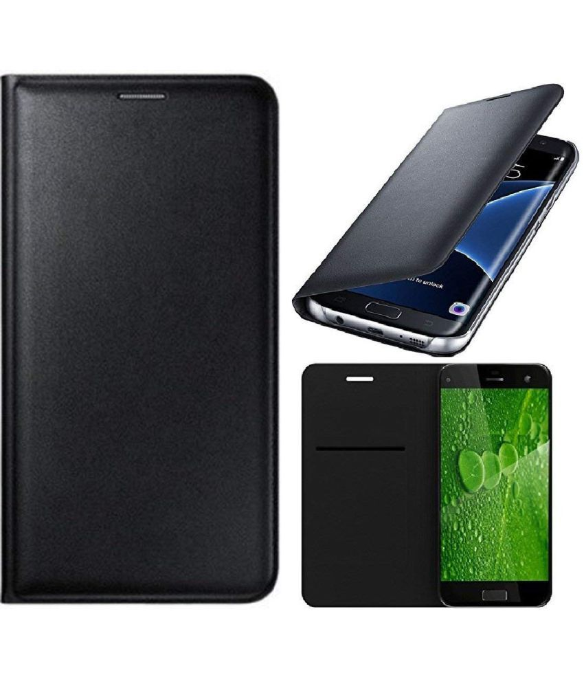 Xiaomi Redmi Note 3 Flip Cover by Shanice - Black Leather Flip Cover