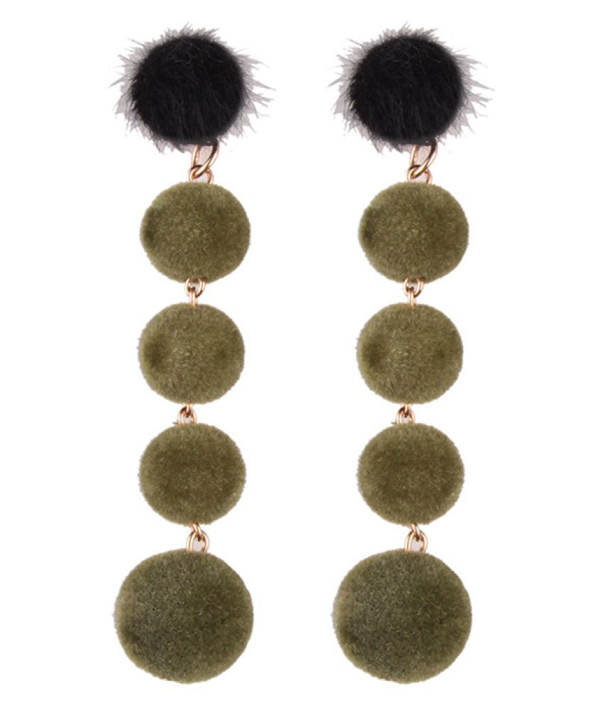Levaso Fashion Jewelry Womens Earrings Ear Studs 1Pair Personality Gifts Green