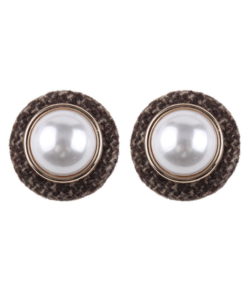 Levaso Fashion Jewelry Womens Earrings Ear Studs Alloy 1Pair Personality Gifts Brown