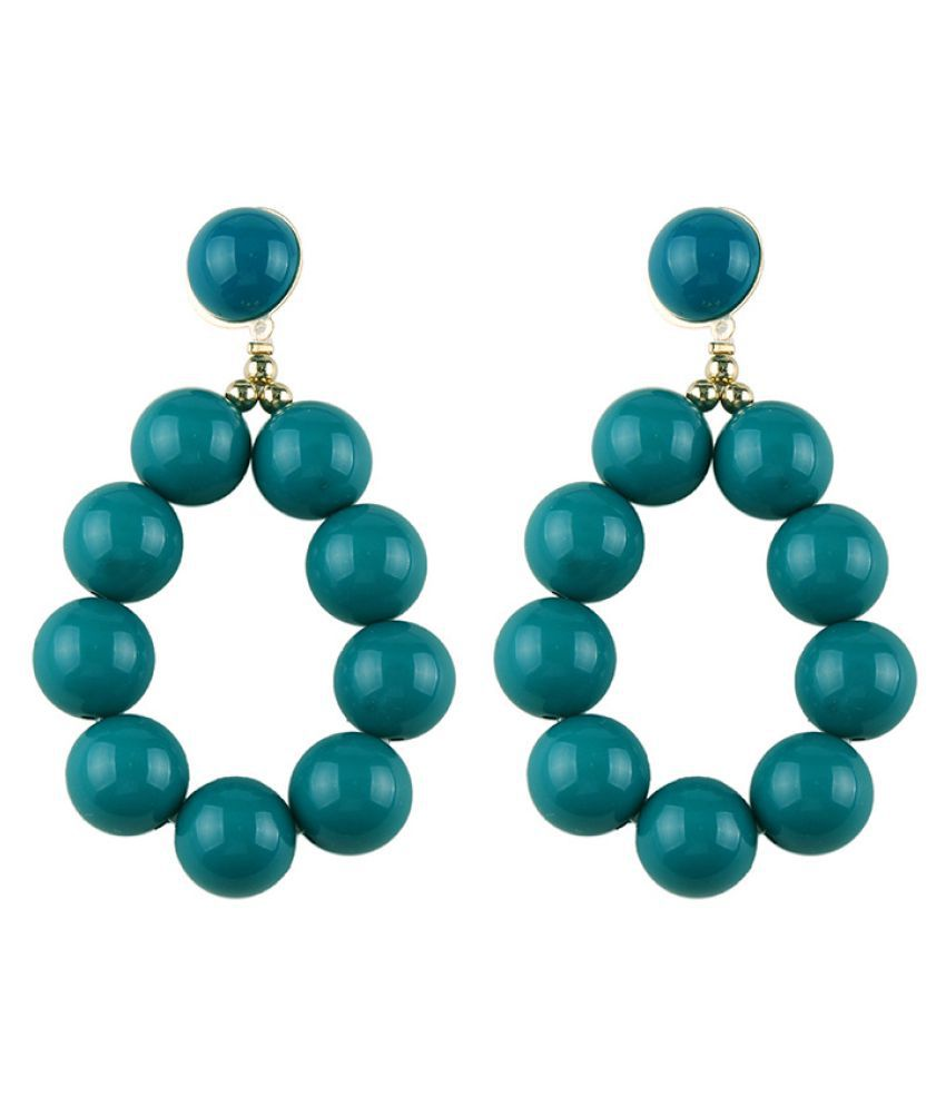 Levaso Fashion Jewelry Womens Earrings Ear Studs Necklace Pendant Alloy 1Set Personality Gifts Green