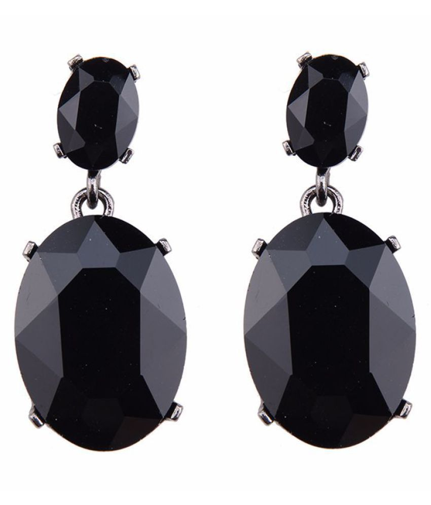 Levaso Fashion Jewelry Womens Earrings Ear Studs Crystal Gemstone 1Pair Personality Gifts Blue