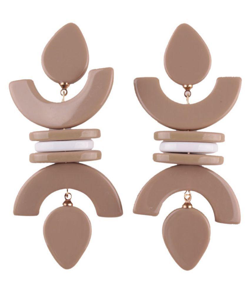 Levaso Fashion Jewelry Womens Earrings Ear Studs Geometric 1Pair Personality Gifts Black