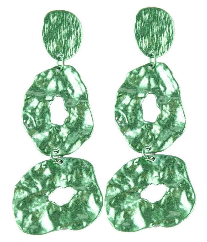 Levaso Fashion Jewelry Womens Earrings Ear Studs Alloy 1Pair Personality Gifts Green