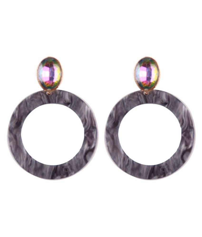 Levaso Fashion Jewelry Womens Earrings Ear Studs 1Pair Personality Gifts Black