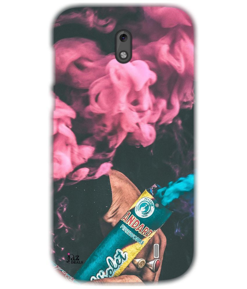 Nokia 1 Printed Cover By Jaz Deals Pink Smoke Print Hard Cover