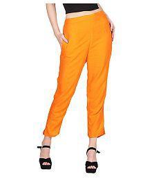 008dafe48efab2 Orange Pants & Capris for Women: Buy Orange Pants & Capris for Women ...