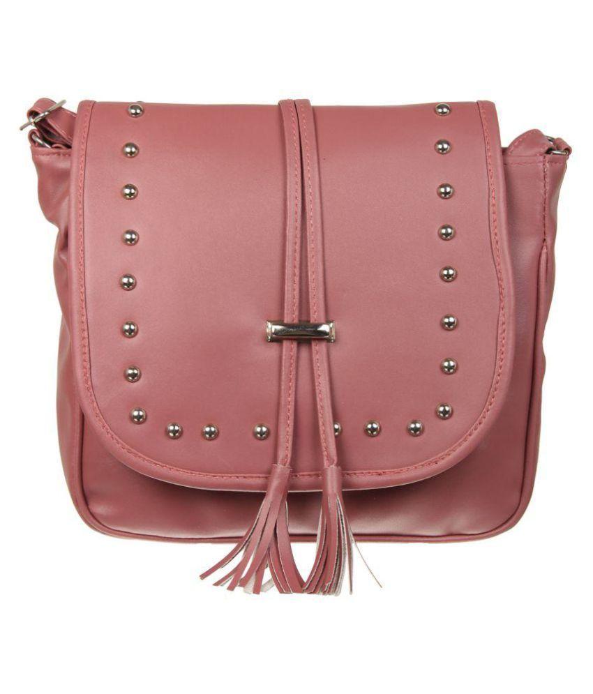 Adine Maroon Faux Leather Sling Bag
