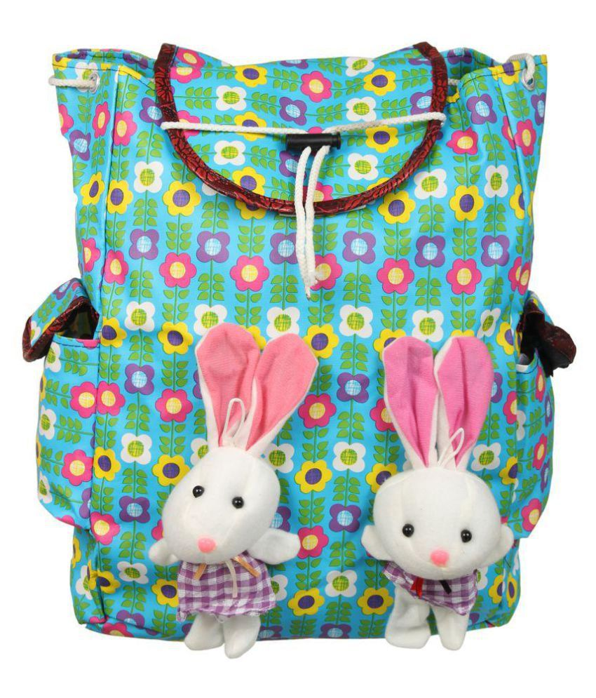 Adine Green Cotton Backpack
