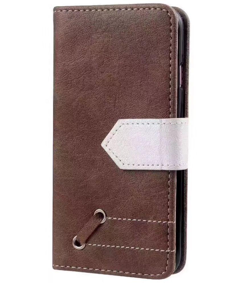 Samsung J7 Prime 2 Flip Cover by Duston - Brown