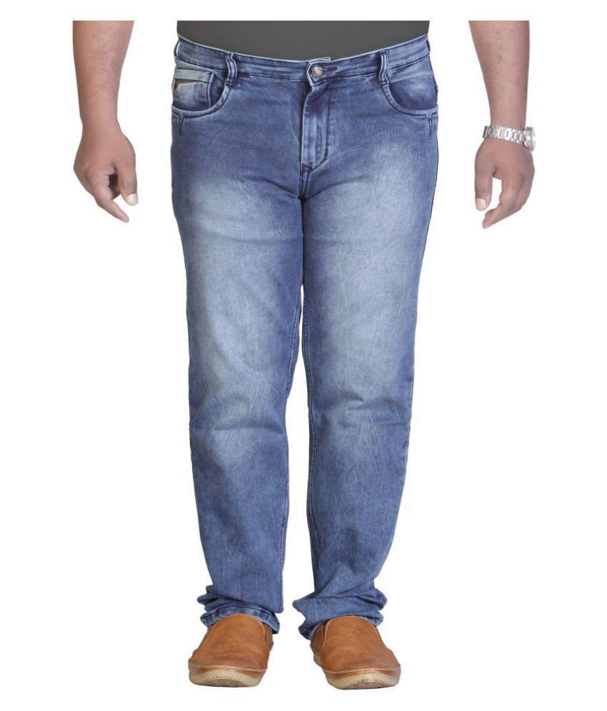 PRANKSTER Light Blue Straight Jeans