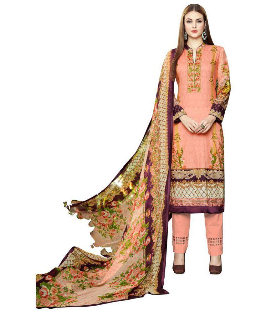 Mumtaz Arts Multicoloured Cotton Dress Material