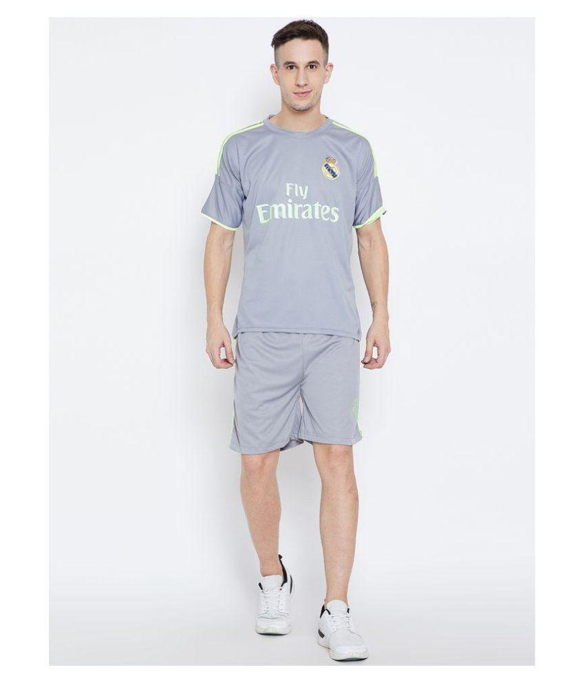 quality design 8f28b 0e91a Sportigoo Replica REAL MADRID - RONALDO 7 Football Jersey Set - Grey/Green