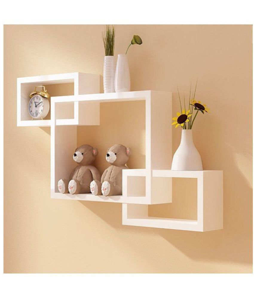 woodworld floating shelves white mdf pack of 1 buy woodworld rh snapdeal com