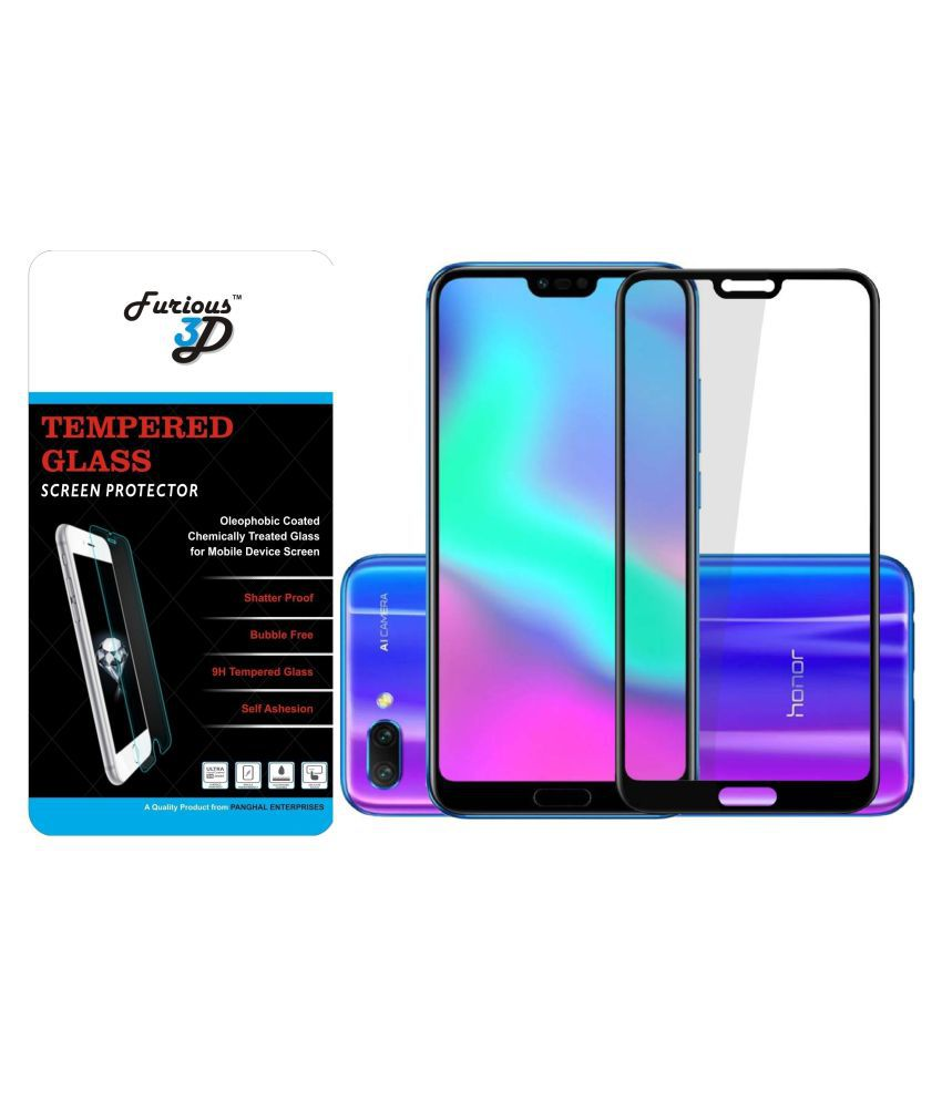 Honor 10 Tempered Glass Screen Guard By Furious3D Scratch Resistant,