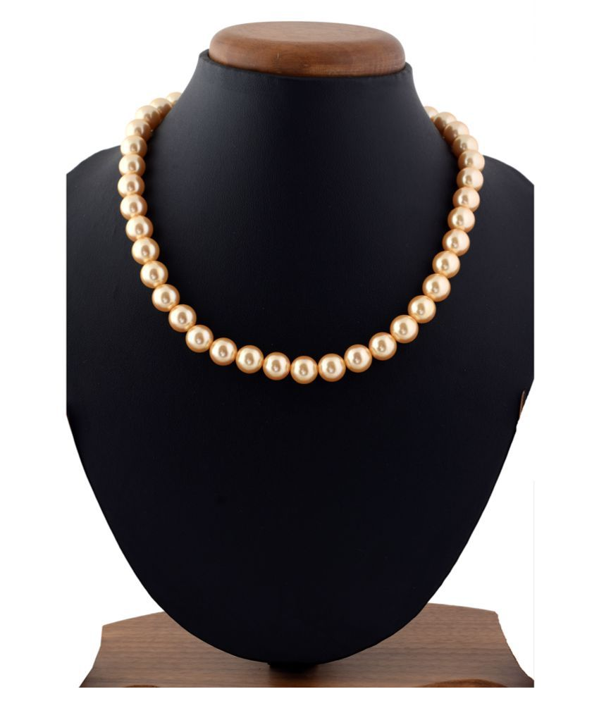 Sakshi Pearls Golden Traditional Necklace Contemporary