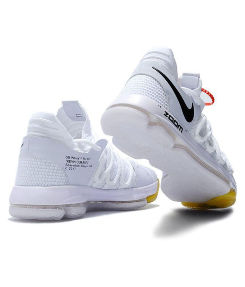 best loved b5ad1 44e09 Nike Air Max X KD 10 White Basketball Shoes