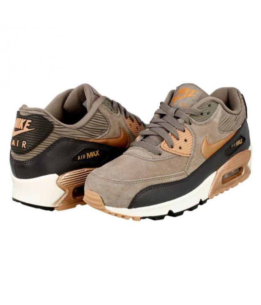 pas mal 05ec3 9b462 Nike Air Max90 Essential Gold Running Shoes