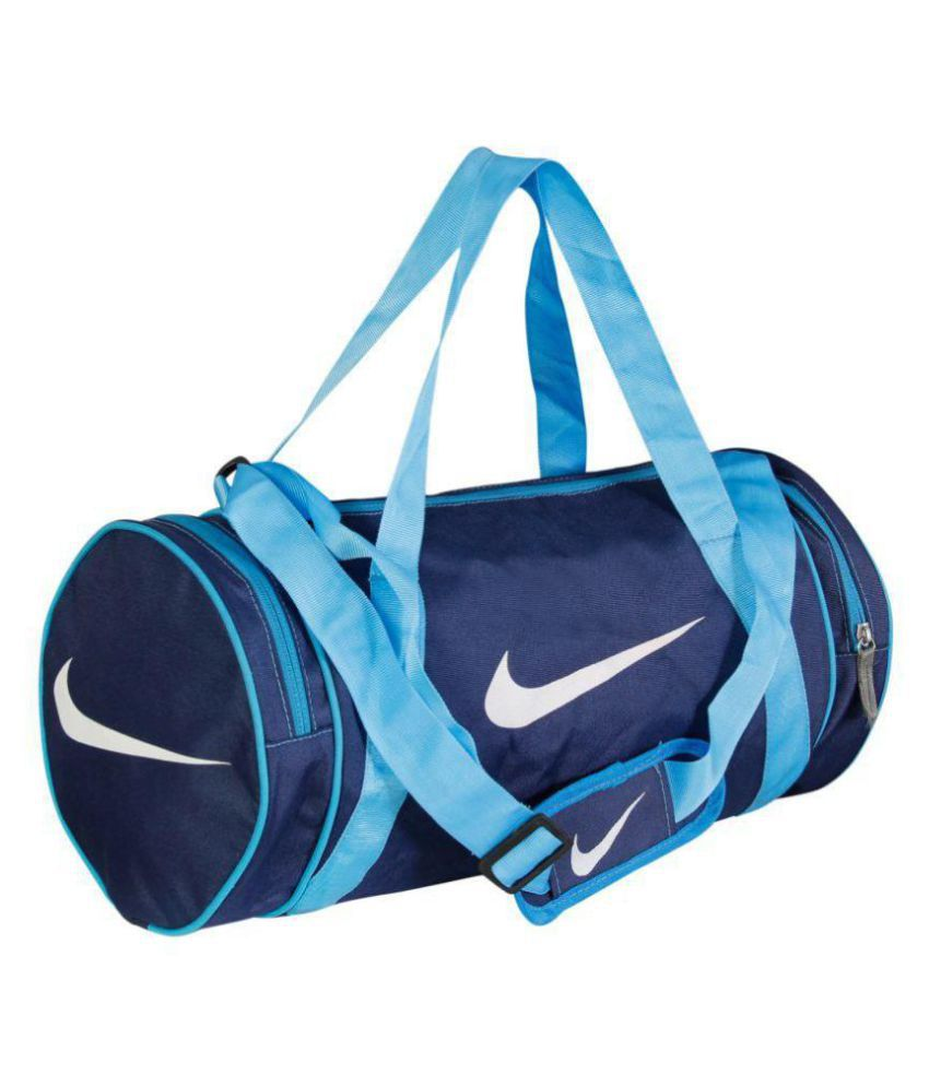 Nike Medium Blue Nylon Gym Bag Travel Duffle For Men   Women Gym Bag ... 8f9965c6ff045