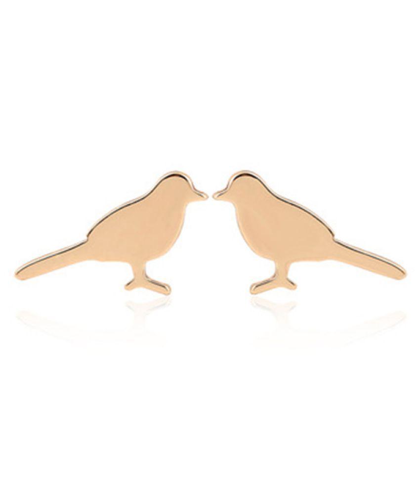 Levaso Fashion Earrings Ear Studs Alloy Jewelry Rose Gold