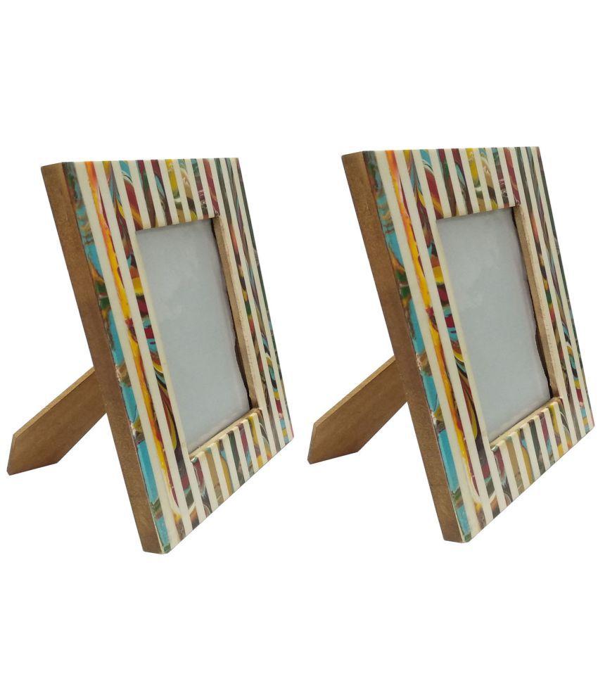 UNI DECORS Wood MultiColour Single Photo Frame - Pack of 1