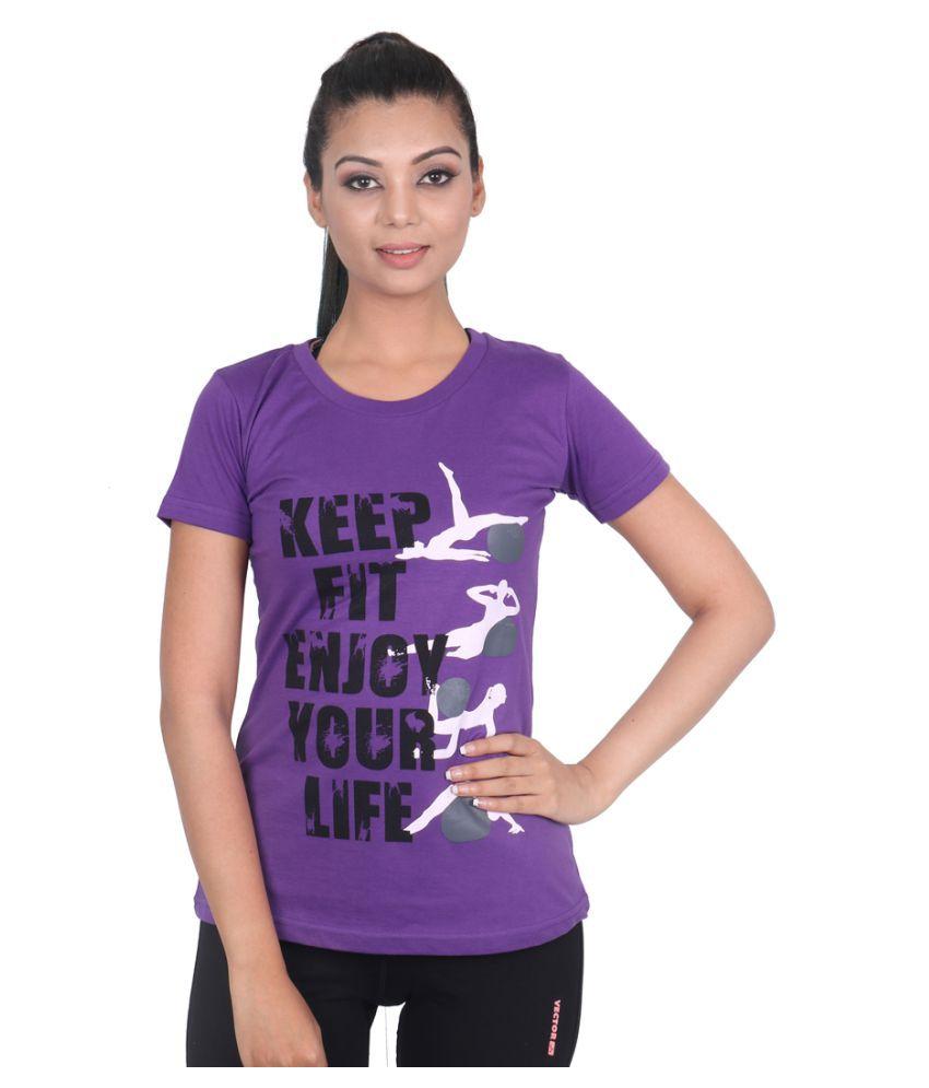 Vector X VTCF-001-D Women's Round Neck T-Shirt (Purple)