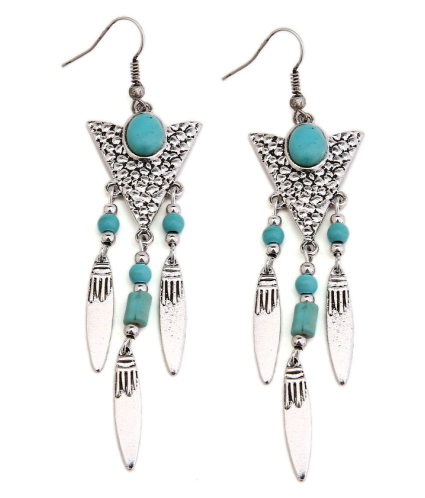 Levaso Fashion Earrings Ear Studs Alloy National Tassels Jewelry Silver