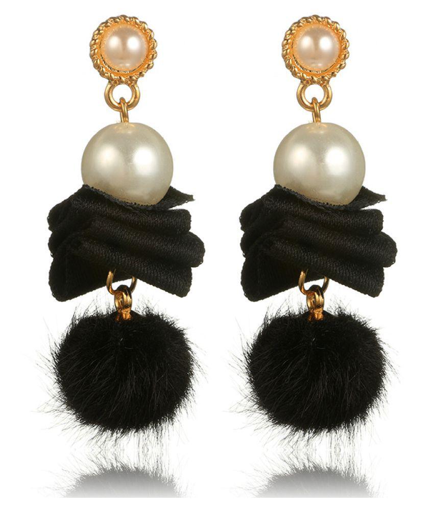 Levaso Fashion Earrings Ear Studs Alloy Tassels Jewelry Green