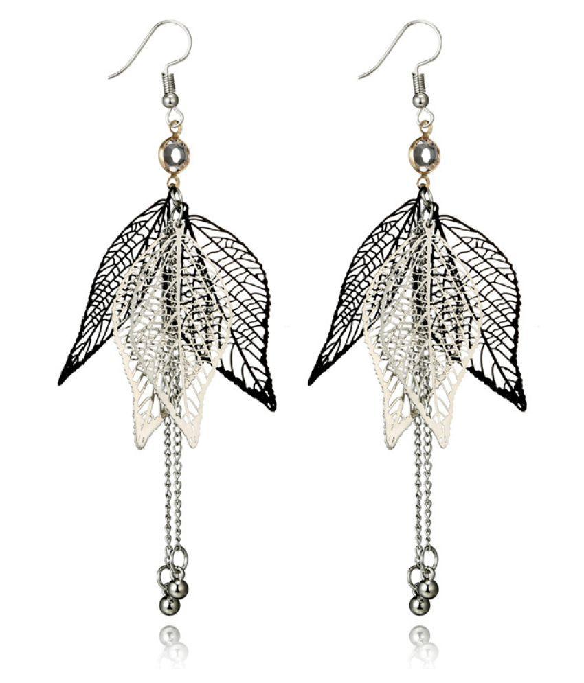 Levaso Fashion Earrings Ear Studs Alloy Tassels Jewelry Silver
