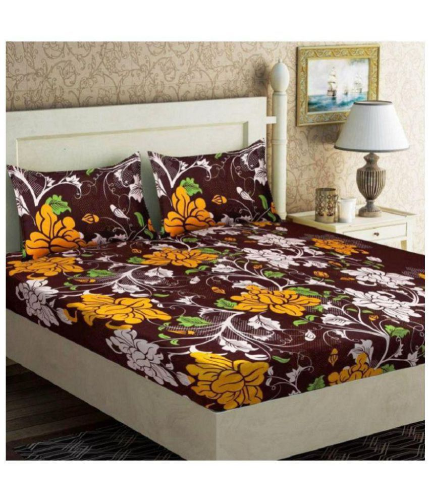 Phyto Home Microfibre Double Bedsheet with 2 Pillow Covers
