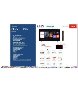 Buy TCL 55P6US 139 7 cm ( ) Ultra HD (4K) LED Television Online at