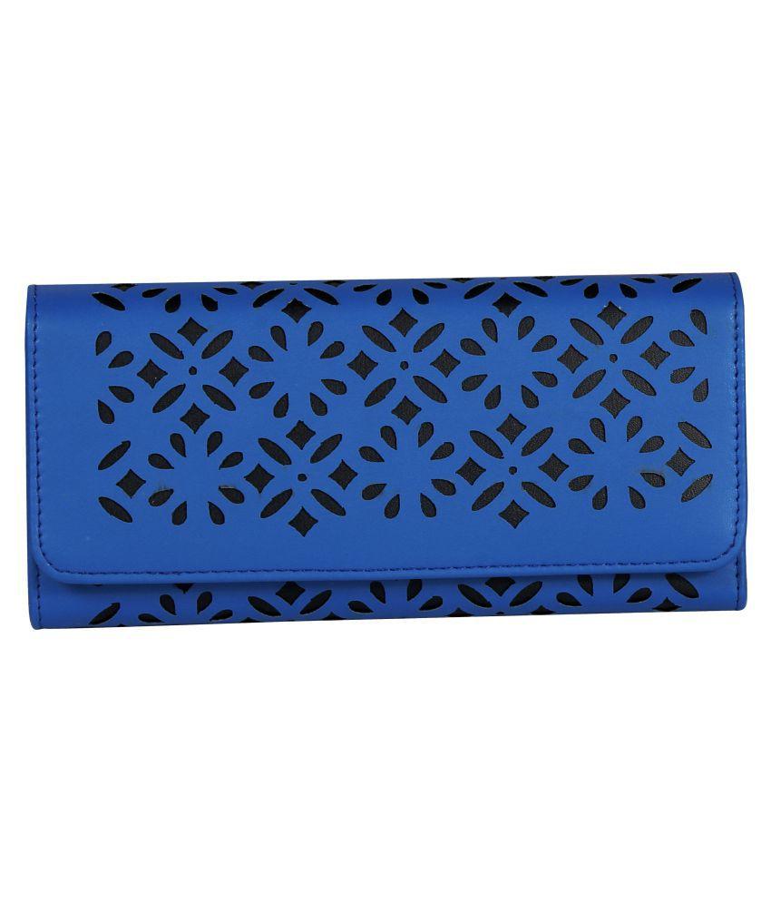 Bellissa International Blue Faux Leather Sling Bag