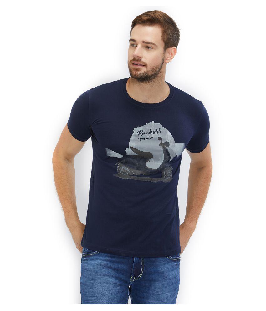 ROAD ROCKERS Blue Half Sleeve T-Shirt Pack of 1