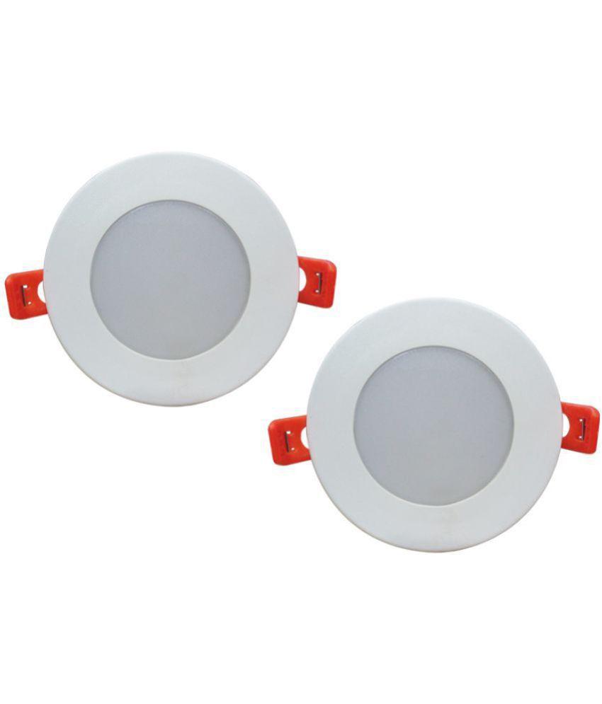 Bene 6W Round Ceiling Light 10.5 cms. - Pack of 2