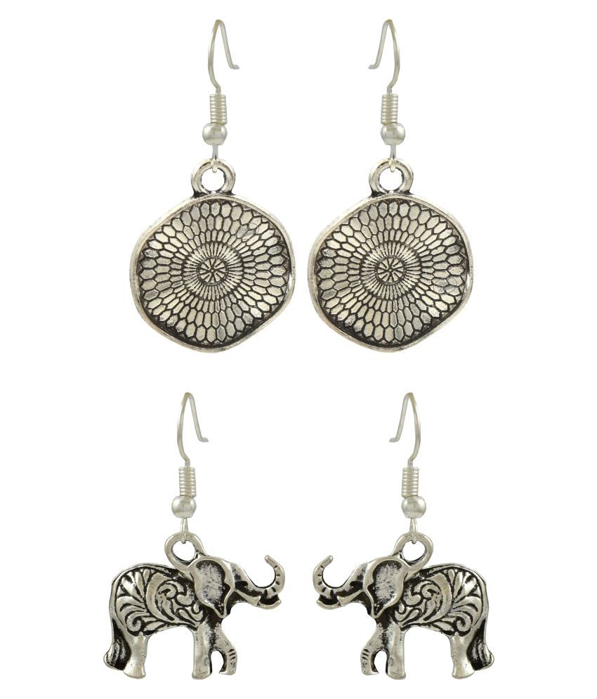 High Trendz Oxidised German Silver Stylish Earrings Combo For Women And Girls