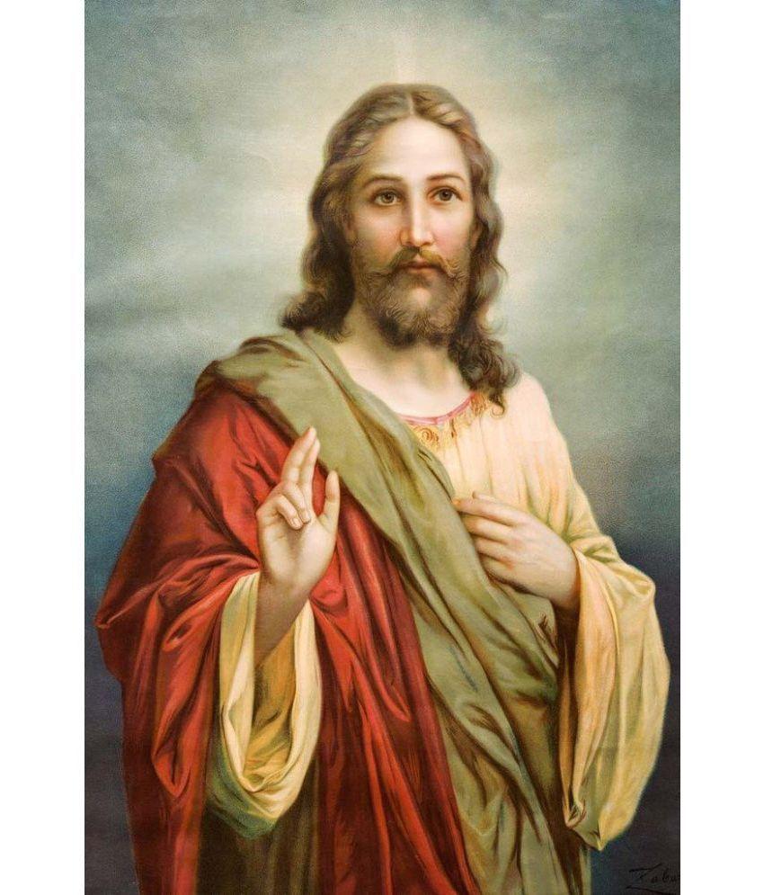 mahalaxmi art craft jesus christ plastic wall poster without frame