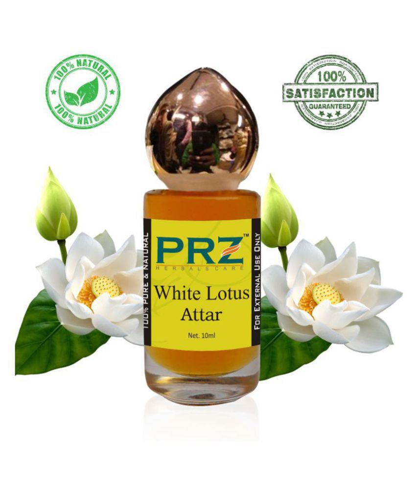 PRZ White Lotus Attar Roll-on For Unisex (10 ML) - Pure Natural Premium Quality Perfume (Non-Alcoholic)
