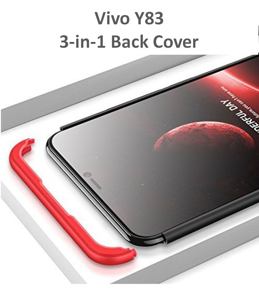 newest 8dd60 e6968 Vivo Y83 3in1 Hard Plain Cases Coverage - Multi