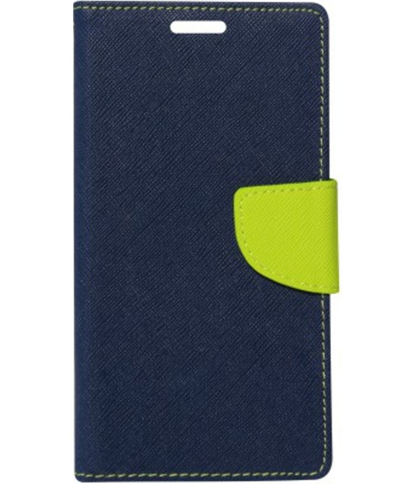 Letv Le 1s Flip Cover by Kosher Traders - Blue Premium Mercury