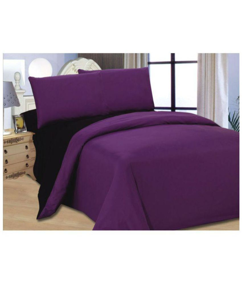 Desirica 100% Waterproof Double Bed Purple Poly Cotton ...