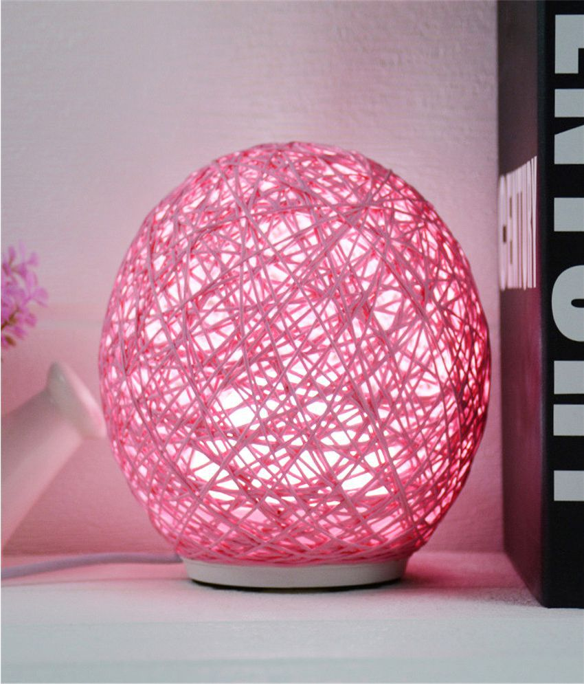 Ecodec LED Multi-function Patted Rattan Ball  Night Lamp Red - Pack of 1