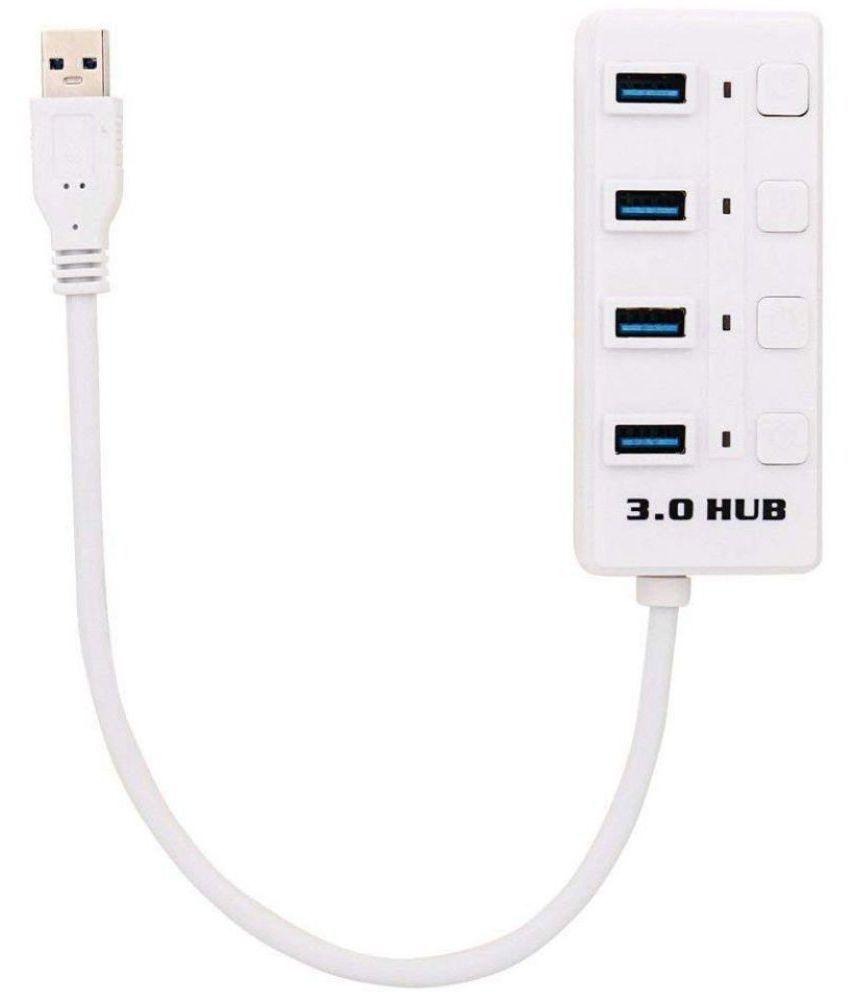 LipiWorld 4 port USB Hub USB 3.0 Superspeed Portable with Switch