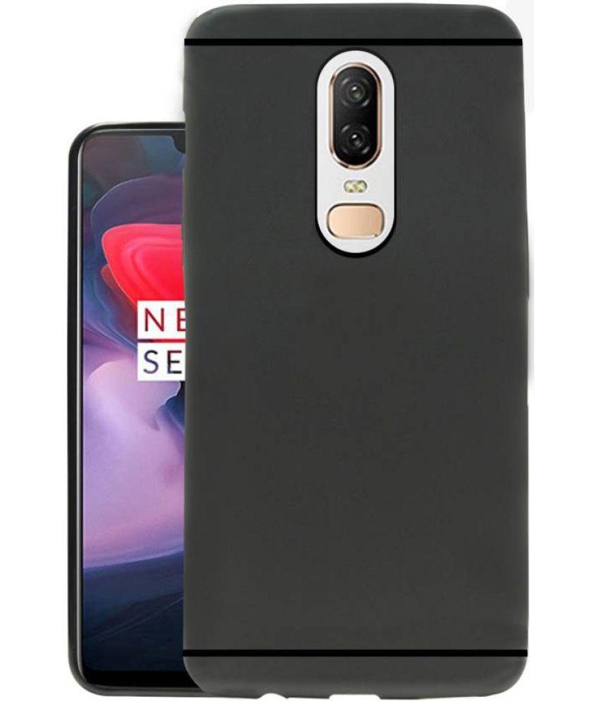 OnePlus 6 Plain Cases MAXX3D - Black SHOCK PROOF