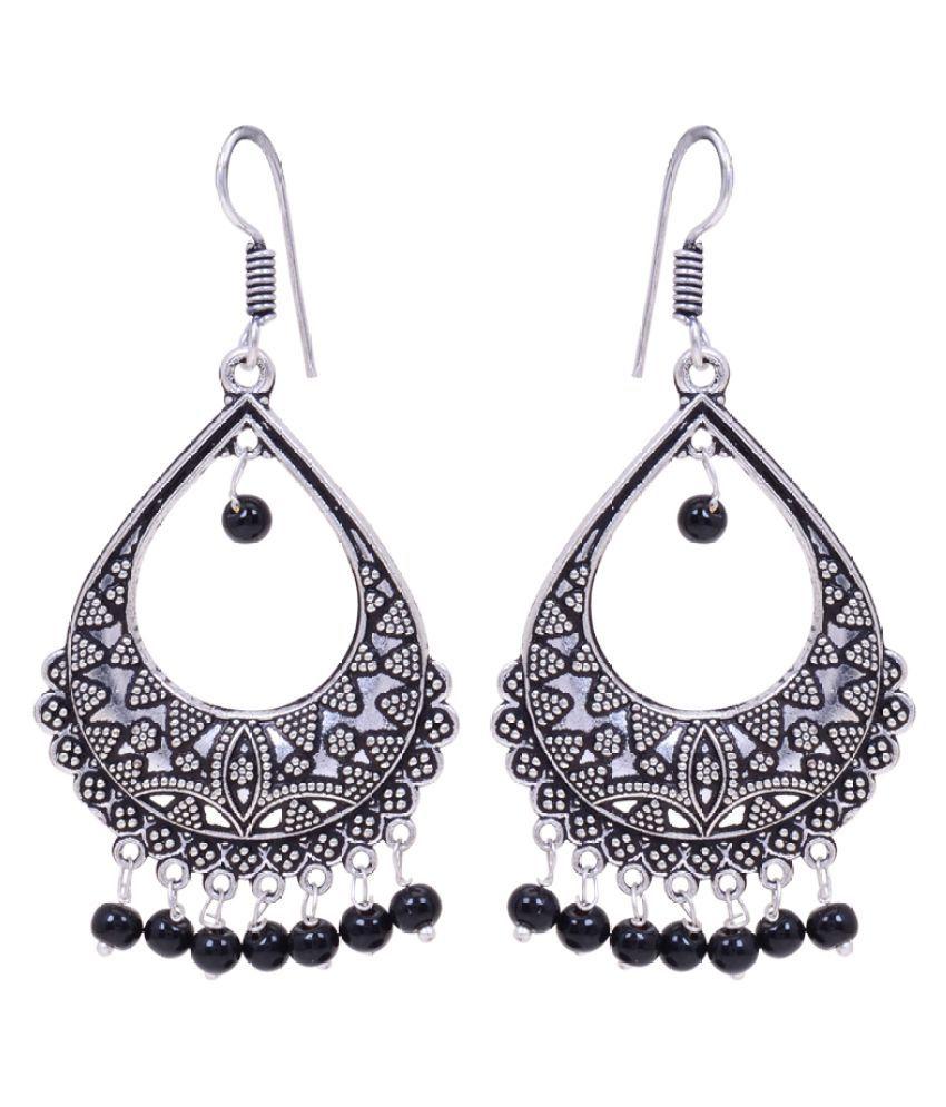 Oxidized Silver Plated Dangle & Drop Earrings for Women