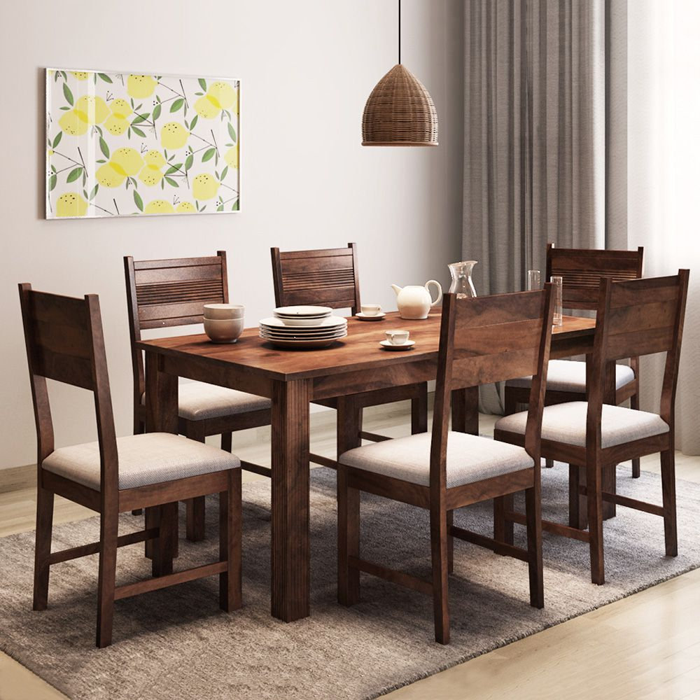 alquiler hove sheesham wood 6 seater dining table set provincial rh snapdeal com