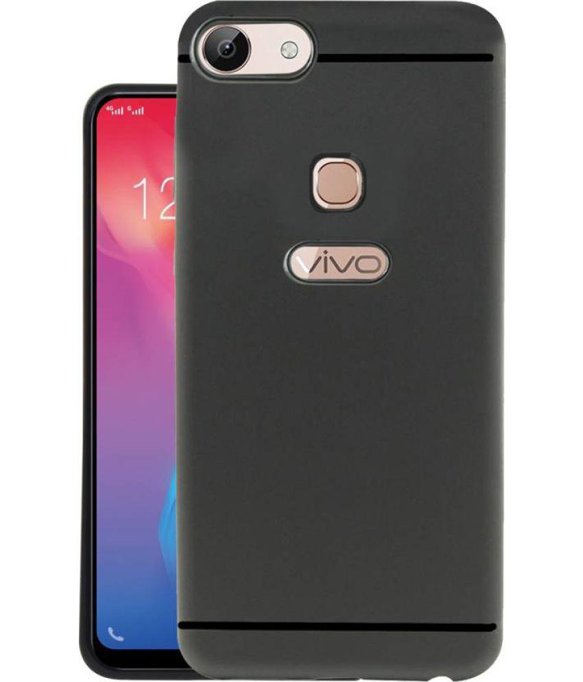 Vivo Y83 Plain Cases MAXX3D - Black SHOCK PROOF