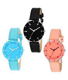 PU Round Womens Watch