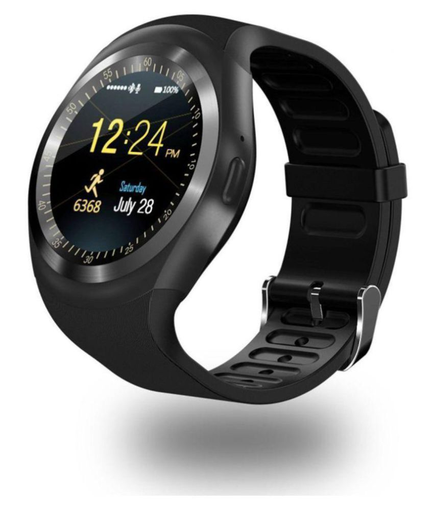 ccde6a88cf9 Drumstone Bluetooth Y1 Smart Watches - Black.Y1Watch - Wearable    Smartwatches Online at Low Prices