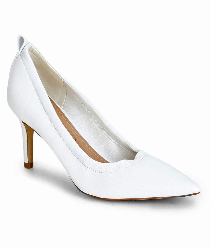 Truffle Collection White Stiletto Heels